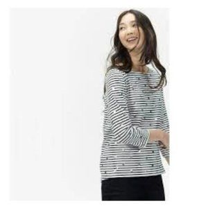 JOULES UK 🇬🇧 - striped and silver polka dot top.